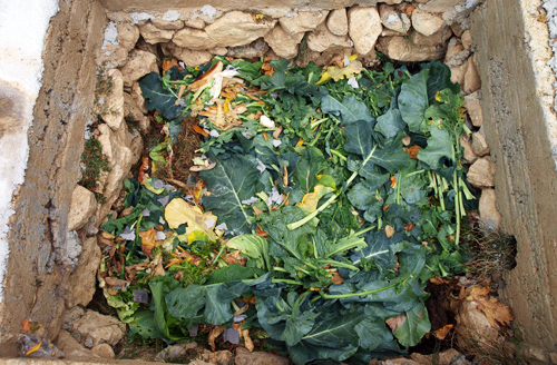Restaurant Knez  composting  of organic matter as green waste (leaves, food waste, paper)